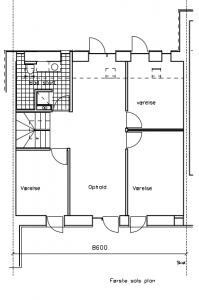 Første sal; mulighed for hems mod NV - House Arkitekter