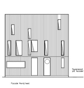 Facade mod NV, med indgang og køkken - House Arkitekter
