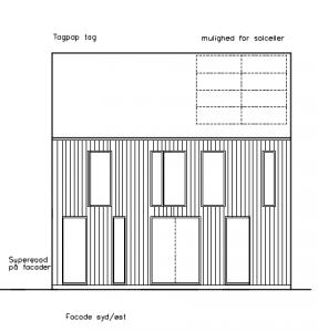 Facade mod SØ - House Arkitekter