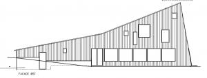 Fælleshus; facade mod Ø - House Arkitekter