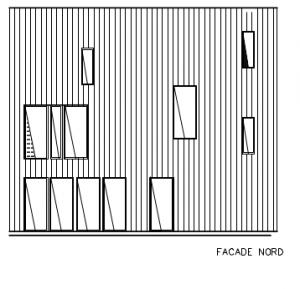 Fælleshus; facade mod N - House arkitekter
