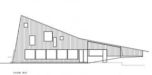 Fælleshus; facade mod V - House Arkitekter